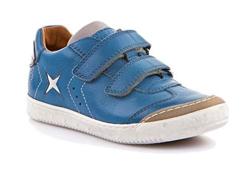 Froddo Jungen G3130126-2 Boys Shoe Sneaker, Blau (Denim I23), 34 EU - Blue Denim Tennis Shoe