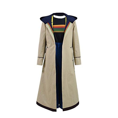 hnten 13. Dr. Who Cosplay Kostüm Beige Mantel für Frauen (M, Vollständiger Satz) ()