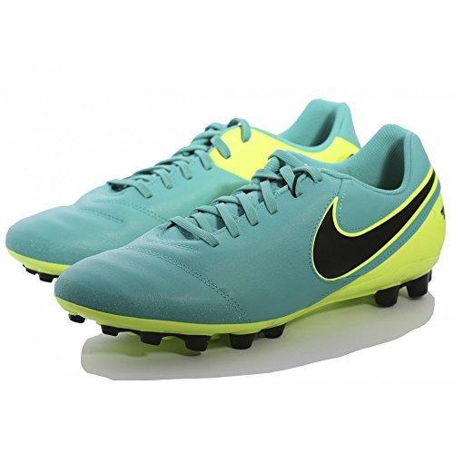 Nike Tiempo Genio Ii Leather Ag-r, Chaussures de foot homme Vert (Clear Jade / Black-Volt)
