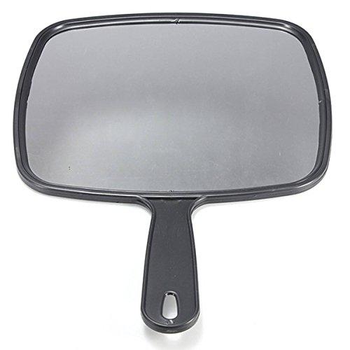 SODIAL Espejo de paleta de mano para Salon Barberos Peluqueria Espejo de paletas Herramienta con mango...