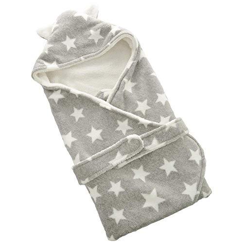 FYABB Baby Neugeborene Swaddle Wrap Blanket, Kids Infant Coral Velvet Quilt Sleeping Bag Sack Stroller für 0-12Months(75 * 75cm),Gray (Coral Kinderzimmer-quilt)