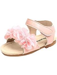 845d45272ac05 OHQ Enfant Fille Fleur Lettre Solide Sandales Princesse Chaussures Gris Été  Enfants Filles Non-Slip