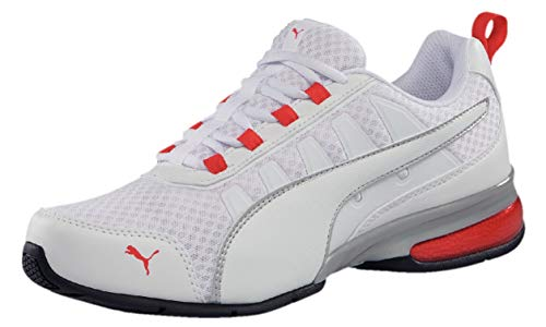 Puma Unisex-Erwachsene Leader VT MESH Sneaker Weiß White-High Risk Red 8, 42 EU Weiß Mesh Sneakers