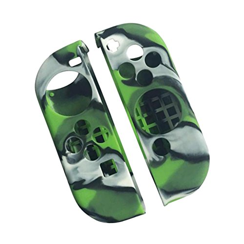 Segolike Soft Gel Protector Case For Nintendo Switch Controller Skin Wrap Camouflage Green