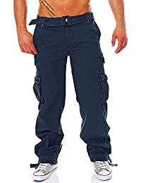 Geographical Norway Herren Cargo Hose Freizeit Outdoor Army Pant inkl. Gürtel