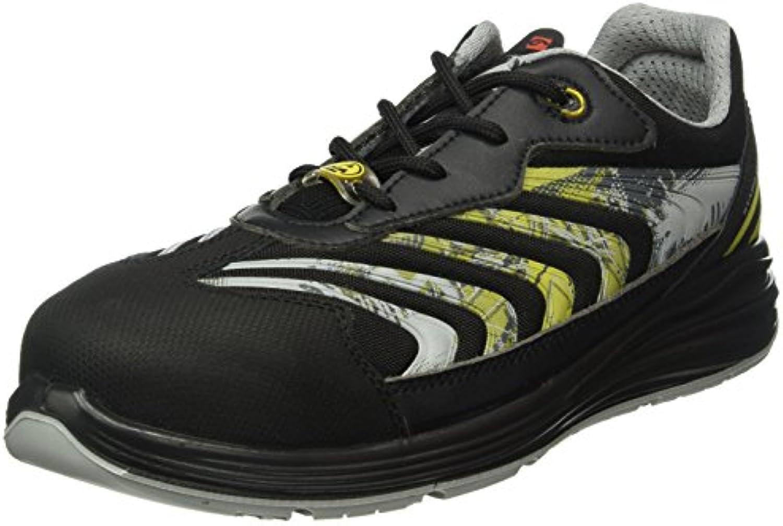 Giasco up071e39 Leo – Zapatos de seguridad bajo S1P negro/amarillo, negro-amarillo, 44 EU