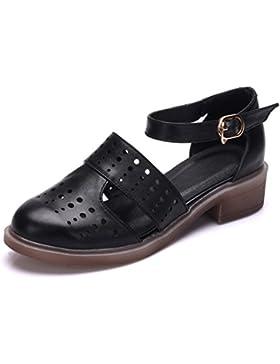 Hollow sandali della signora Comfort chunky tacchi scarpe donna