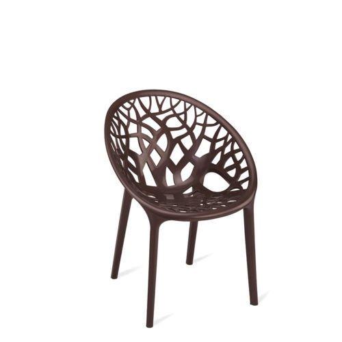 Nilkamal Crystal Chair (Weather Brown)