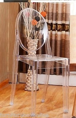 new-louis-ghost-acrylic-transparent-clear-philippe-starck-style-dining-chair-x4