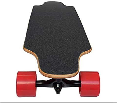 GZD Portable electric skateboard Wireless remote control electric long board Double drive four wheel skateboard Intelligent remote control 90 * 21 * 11cm Speed: 20 km / h, range: 25 km