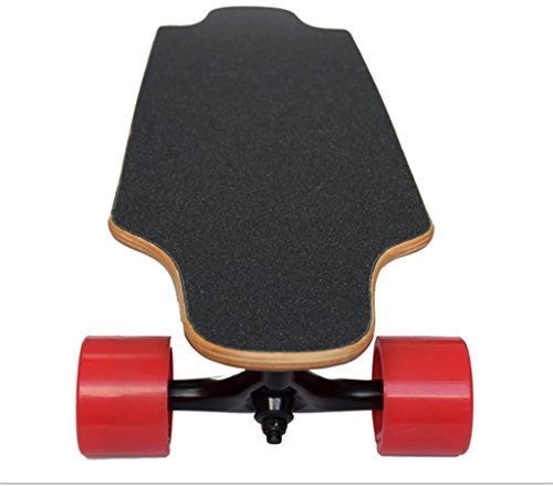 GZD Portable electric skateboard Wireless remote control electric long board Double drive four wheel skateboard Intelligent remote control 90 * 21 * 11cm Speed: 20 km / h, range: 25 km