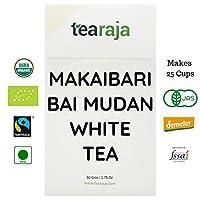Makaibari Bai Mu Dan White Tea (Pai Mu Tan or White Peony) 50 GMS | 100% Pure Single Estate | Makaibari | White Tea | Rich in Antioxidant | Leads to Healthy Lifestyle |