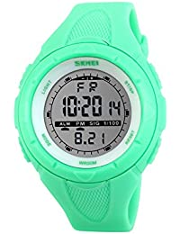 Naivo Women's Swiss Automatic Stainless Steel and Rubber, Color:Green (Model: WATCH-1170)