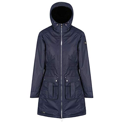 Regatta Damen Romina Waterproof and Breathable Insulated Hooded Jacke, Navy, 36 - Insulated Hooded Parka