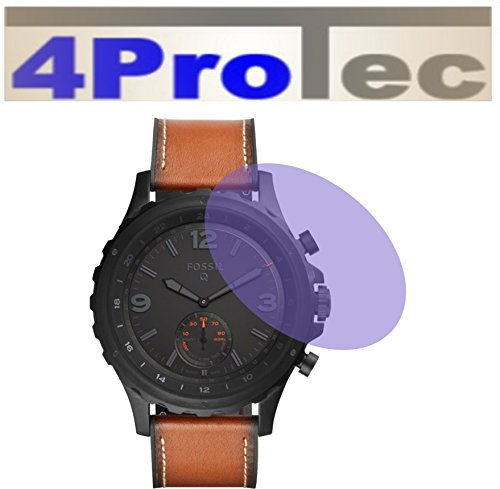 4ProTec 2 Stück Displayschutzfolie CC für Fossil Smartwatch Q Nate Displayschutzfolie Bildschirmschutzfolie Schutzhülle Displayschutz Displayfolie Folie