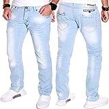 Unbekannt Herren Jeans Hose Clubwear Cargo Chino Freizeit Denim (Hellblau (J.1.4 9044), W34/L33)
