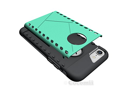 iPhone 8 / iPhone 7 Hülle, Cocomii Paladin Armor NEW [Heavy Duty] Premium Tactical Grip Slim Fit Shockproof Hard Bumper Shell [Military Defender] Full Body Dual Layer Rugged Cover Case Schutzhülle App Green