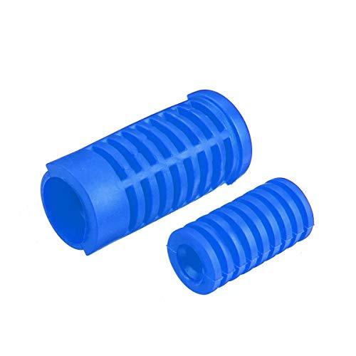 Ri Sheng Jian Zhu Motorrad-Pedal Toe Universal-Fuss-Auflage-Pegs Abdeckung Fußbetätigte Links Schalthebel Bremspedale (Farbe : Blue)