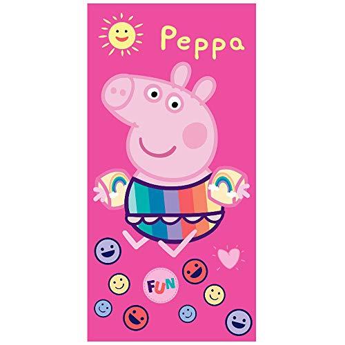 Handtuch Peppa Pig Fun Mikrofaser Pool Beach Bad 70x140cm Kind (Peppa Pig Beach)