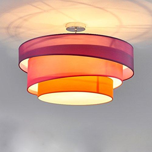 Deceknleuchte 3 Flammig Deckenlampe Stofflampe Designleuchte Wohnzimmerlampe Esszimmerlampe Schlafzimmerlampe Küchenlampe Arbeitslampe...