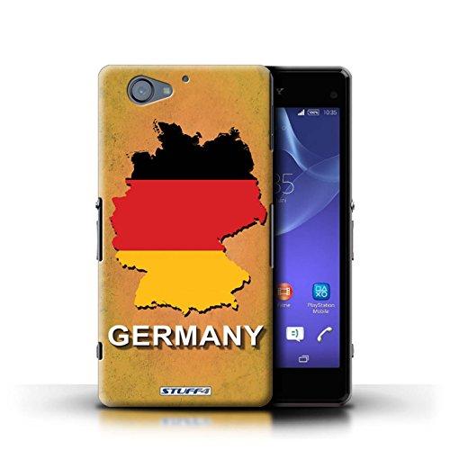 Kobalt® Imprimé Etui / Coque pour Sony Xperia A2 / Thaïlande/Thai conception / Série Drapeau Pays Allemagne/Allemand