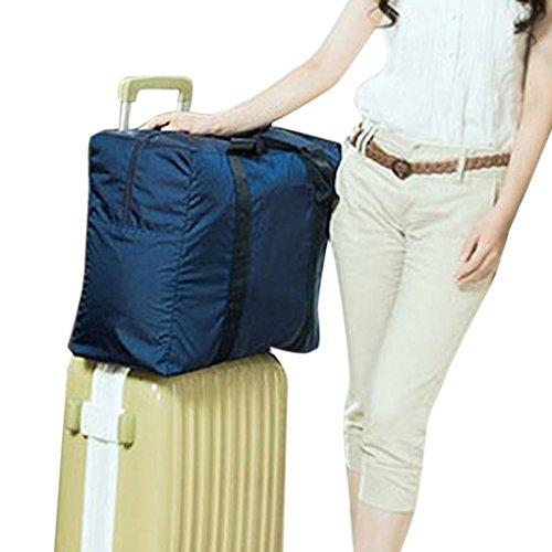 Reisetasche, Kleidertasche, Wasserdichte Damen & Herren Aufbewahrungstasche Nylon Tasche für Reise Große Kapazität Faltbare Bag Storage Wandern Sport Urlaub Outdoor Blau