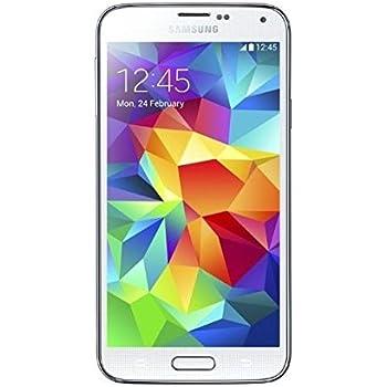 Samsung Galaxy S5 Smartphone, Display 5.1 Pollici, Processore Quad-Core 2,5 GHz, RAM 2GB, Memoria Fotocamera 16MP, Android 4.4, Bianco [Germania]