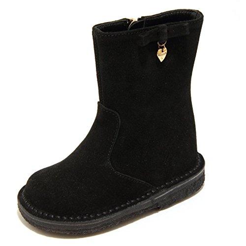 Dolce & Gabbana 4973F Stivaletto Nero D&G Scarpa Tronchetto Bimba Boots Shoes Kids [25]