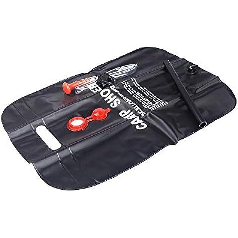 Lixada Bag Doccia campeggio/ sacchetto di acqua in PVC , per sport all'aperto/ Escursioni/ viaggio, 5 galloni Energia Solare riscaldato, 20L