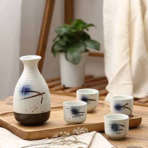 Miruike Japanische Sake-Becher-Set für Familie und Freunde, Thanksgiving, Weihnachtsgeschenk, 6 Stück ()