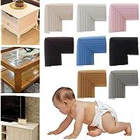 Braun Cuigu 10 St/ück Baby Sicherheit Schreibtisch Ecke Kissen weiche Tabelle Sto/ßschutz f/ür Kinder