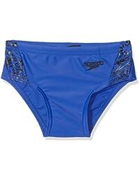 Speedo Boom Splice 6.5cm Brief Bañadores, Niños, Amparo Blue/Black, 26