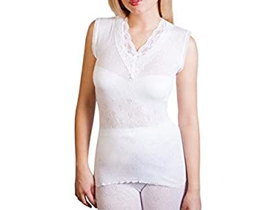 Ladies Thermal Vest Build up Lace Spencer Camisole All Sizes (Free P&P)