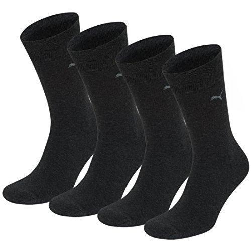 Puma Classic Casual Business–Packung mit 4Paar Socken für Herren, Herren, Grigio - anthracite / anthracite, 39-42 (Casual Herren-socken)