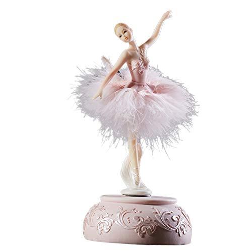 Fintass Ballerina - Caja de música con Plumas para Regalo de cumpleaños