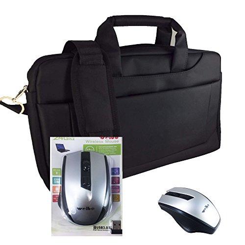 2in1 Starter Set Laptoptasche + Wireless Maus für Dell Latitude 12 E7250-WMDYN   Notebooktasche   Businesstasche - 2in1 LB Schwarz 6 + X16