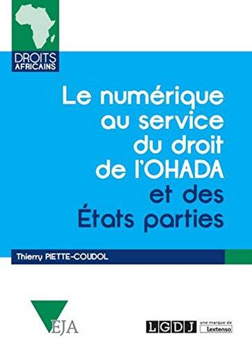 Le Numérique au service du droit de l'OHADA et des Etats parties