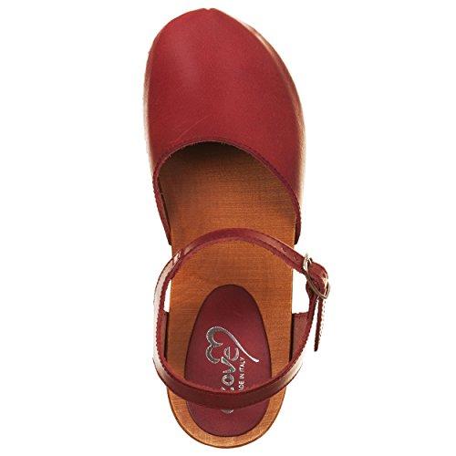 Sandali clogs ROSSO Rosso