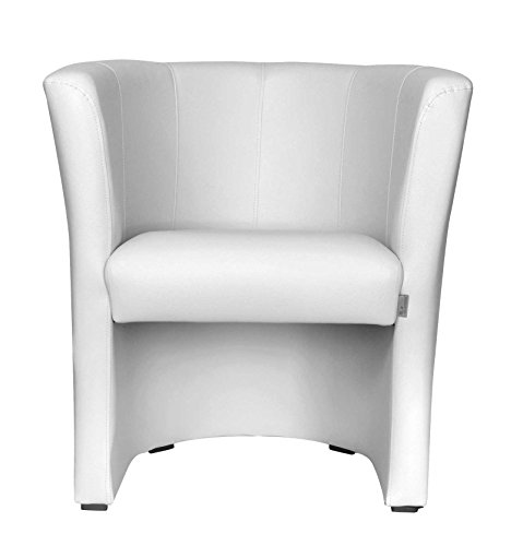 TOP Sessel Clubsessel Loungesessel Cocktailsessel Weiss W042 31 FORTISLINE