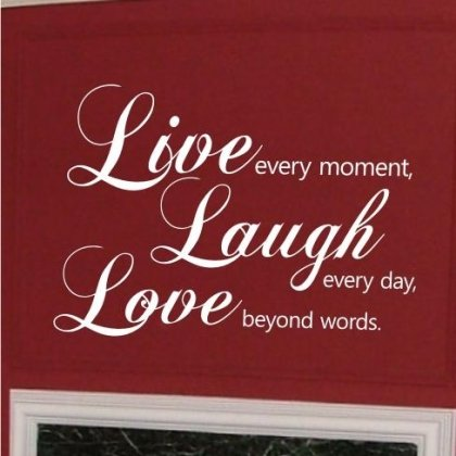 Bay Schnitt (Sticker Bay Wandtattoo Live Laugh Love Wandtattoo Zitat Kunst Dekor schwarz)