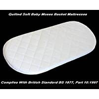 Sell it yourself 70 X 28 X 3.5 CM RAINBOW INSPIRE BABY MOSES BASKET//PRAM OVAL SHAPED MATTRESSES QUILTED SOFT Have one to sell