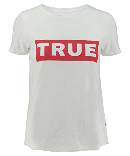 True Religion Damen T-Shirt Logo Tee Red Box Weiss (10) M