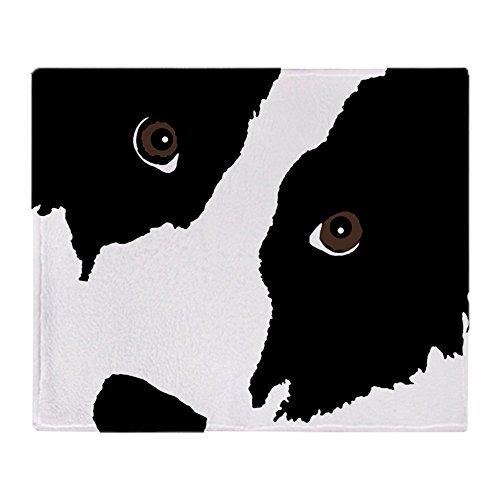 CafePress–Border Collie Watching Ewe–weicher Fleece Überwurf Decke, 127x 152,4cm Stadion Decke, weiß, 50x60