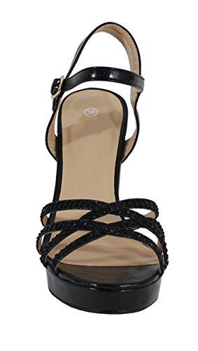 Sandale Haute à Paillettes - No Name - Spéciale Été Noir