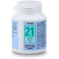 Schüssler Salz Nr. 21 Zincum chloratum D12 - 400 Tabletten, glutenfrei