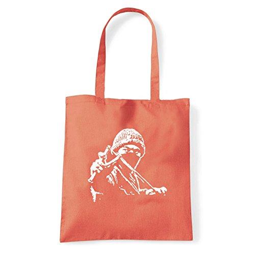 Art T-shirt, Borsa Shoulder ninja-street Corallo