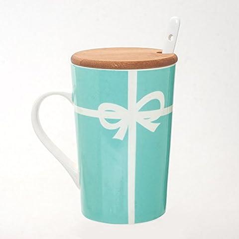 Set mit 8 Kaffeetassen Keramik große Kapazität kreative Paare, Emerald Becher