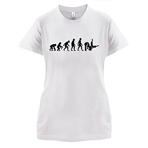 Evolution of Man - Judo - Damen T-Shirt - 8 Farben Weiß