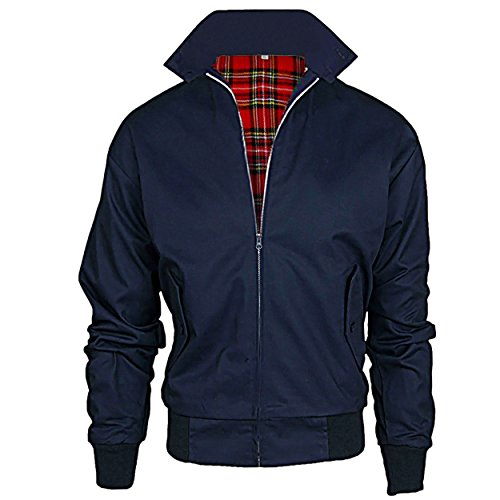 Juicy Trendz Uomo Classico Retro Annata HARRINGTON Giacca 70s Scooter Bombardiere Cappotto XL