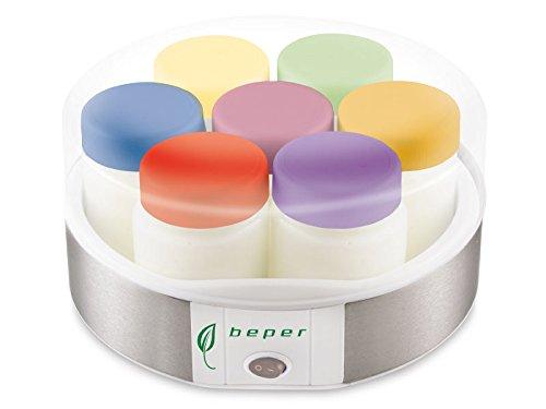 Beper Yogurtera 90.535, 15 W, Acero, plástico, Vario